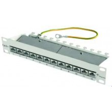 Telegärtner J02022A0057 10 Zoll Mini Patch Panel MPP12-HS K Cat.6A