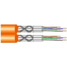 Draka UC900 HS 2x4p S/ftp Datenleitung Duplex AWG23 Cat.7 Orange - Meterware