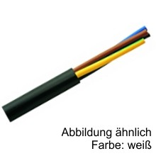 H05VV-F 5G0,75 PVC-Schlauchleitung weiss - Ring 50m